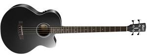 Электро-акустическая бас-гитара Cort AB850F-BK, черная